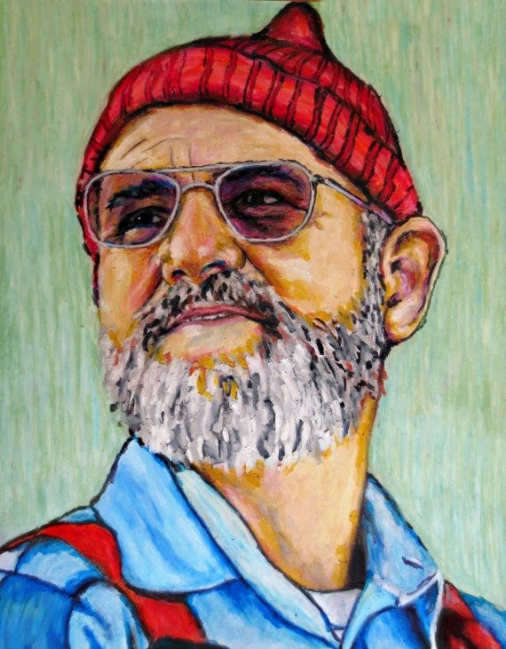 The Life Aquatic with Steve Zissou Pop Art by ARTWORKbyMALLORY