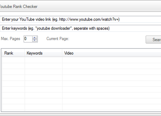 YouTube Rank Checker Tool