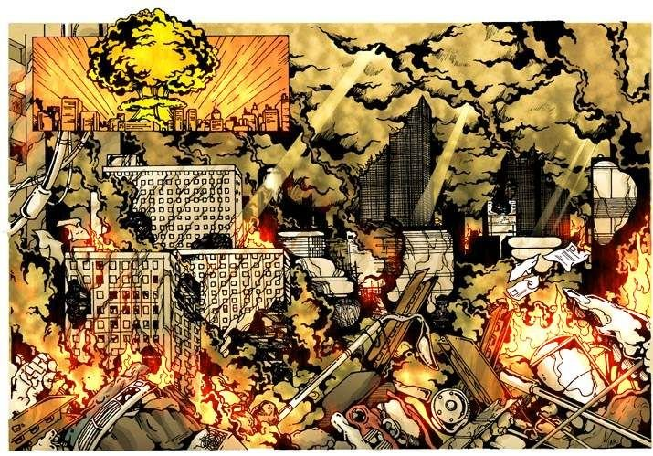 Comic Book - Alien Rescue - Earth Destroyed