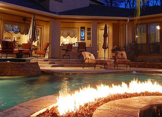 fire pool area
