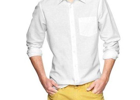Linen Patch Pocket Solid Shirt