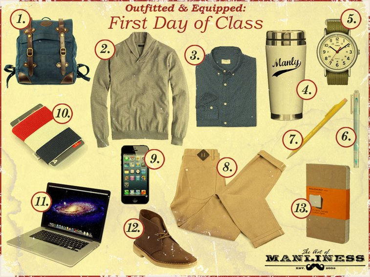 Outfitted & Equipped: First Day of Class | The Art of Manliness