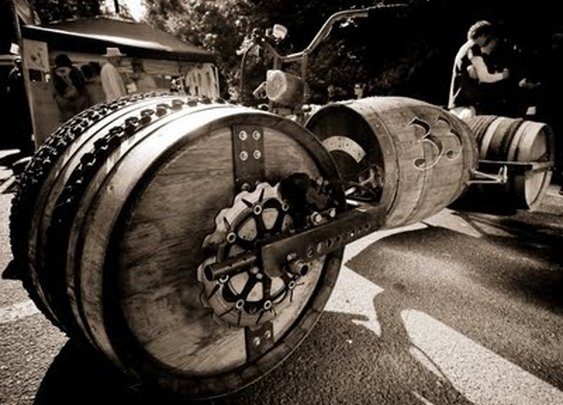 Whiskey Barrel Bike