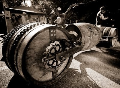 Whiskey Barrel Bike