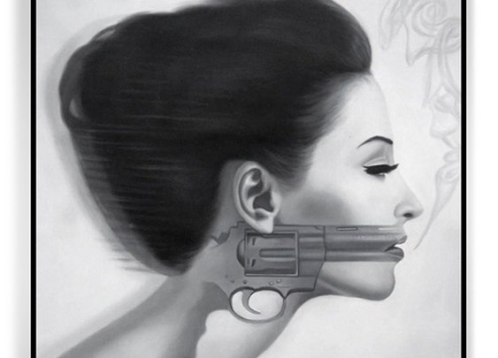 Jason Pearson's Oil, Guns, and Women Paintings - Classy Bro