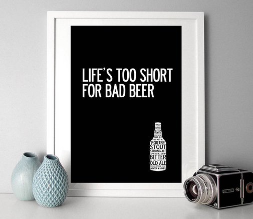 for all beer lovers typographic ale print