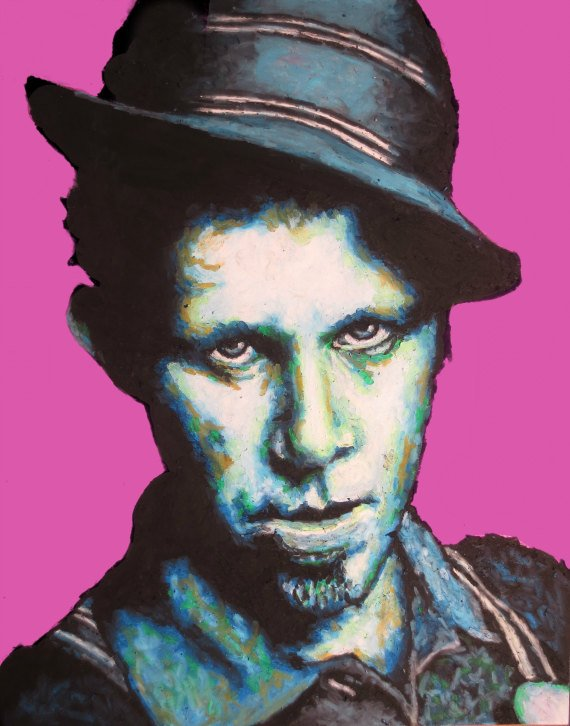Tom Waits Pop Art Print  11x14 Portrait Poster by ARTWORKbyMALLORY