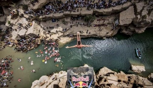 Cliff Divers Plunge from 90ft Up