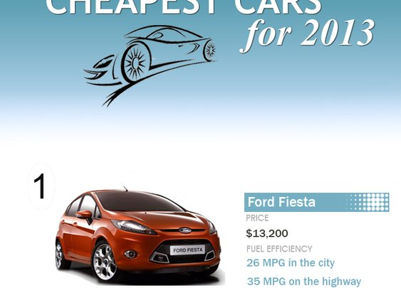 Top 10 Cheapest Cars for 2013