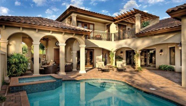 Characteristic of Mediterranean-style House Facade, mediterranean ...