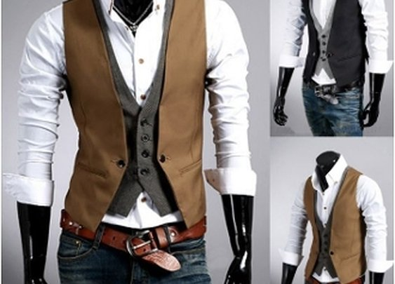 Men's Layered Look Vest