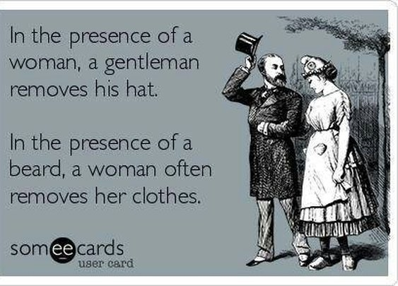 In the presence of a woman...