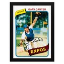 1980 Gary Carter Framed Wall Card, Gary Carter Framed Wall Poster 1980 | topps.com