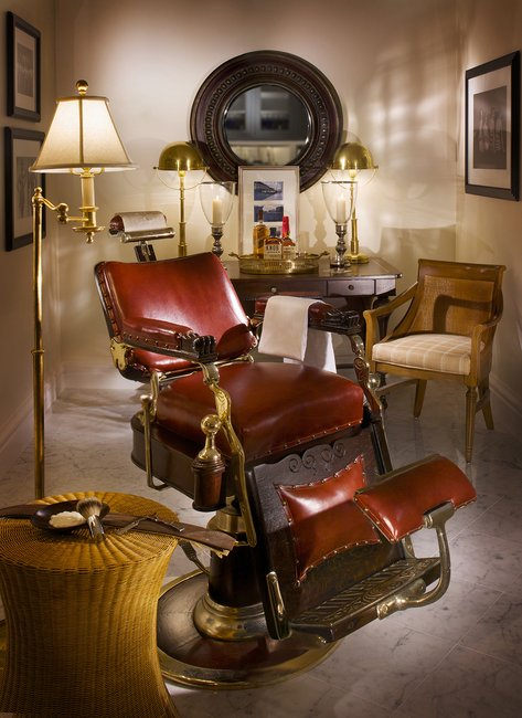 The Antique Barber's Chair
