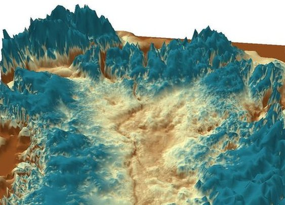 BBC - Huge canyon discovered under Greenland ice