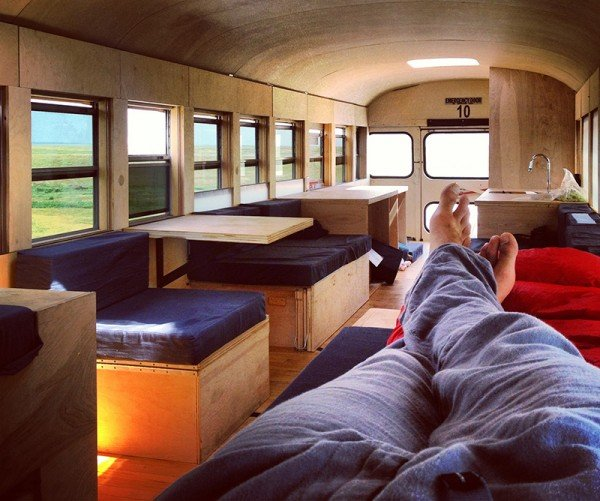Restored Bus Mobile Home by Hank Butitta
