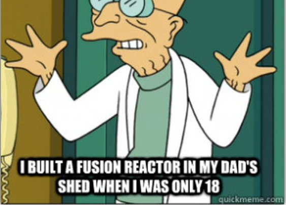 Teen builds nuclear fusion reactor in shed  | Exuding Quiet Awesomeness