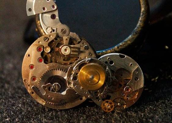 Steampunk Necklace, Irregular-Shaped Pendant Necklace