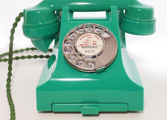 Green GPO 332L bakelite phone 1950