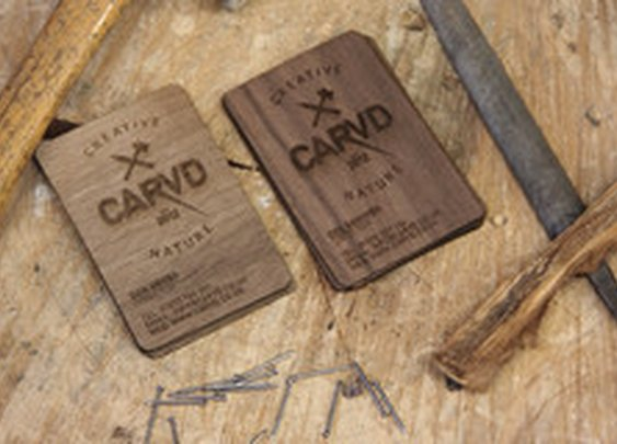 Wooden Business Cards | CARVD Manchester UK