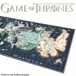 ThinkGeek :: Game of Thrones 3D Map of Westeros Puzzle