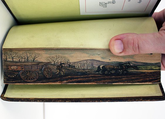 19th Century Fore-Edge Paintings Are Hidden on the Pages of a Book