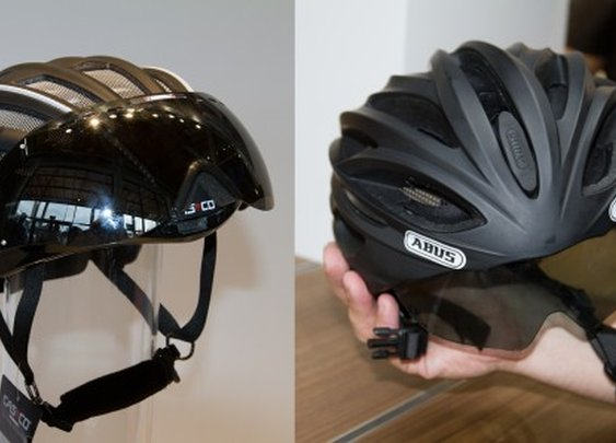 ABUS and Casco provide different takes on integrated helmet visors