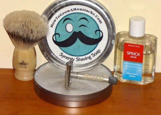 Omega silvertip badger and HTGAM shaving soap |Leisureguy