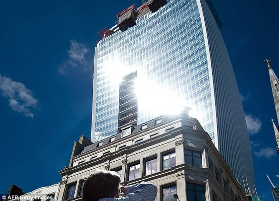 New London Skyscraper Melts Nearby Parked Cars with Reflected Sunlight