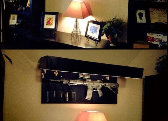 Wall Art That Doubles As Gun Case