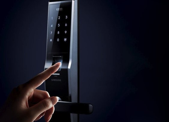 Fingerprint Digital Door Lock By Samsung | The Gadget Flow