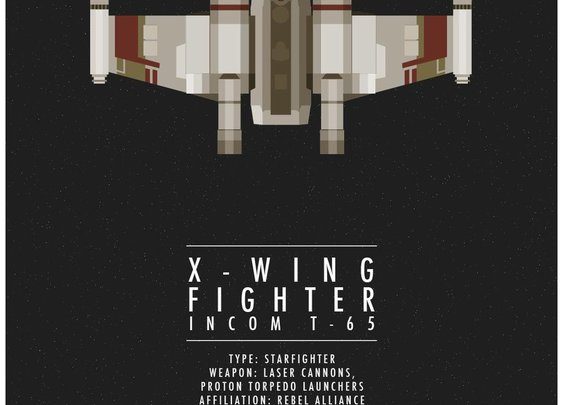 Star Wars Ships Minimalist Posters | The Coolector