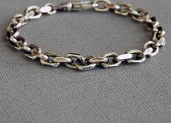 Heavy Sterling Silver Cable Chain Bracelet for Men
