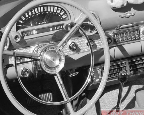 Thunderbird Car Art Black and White Photography 8x10 by GuyThing