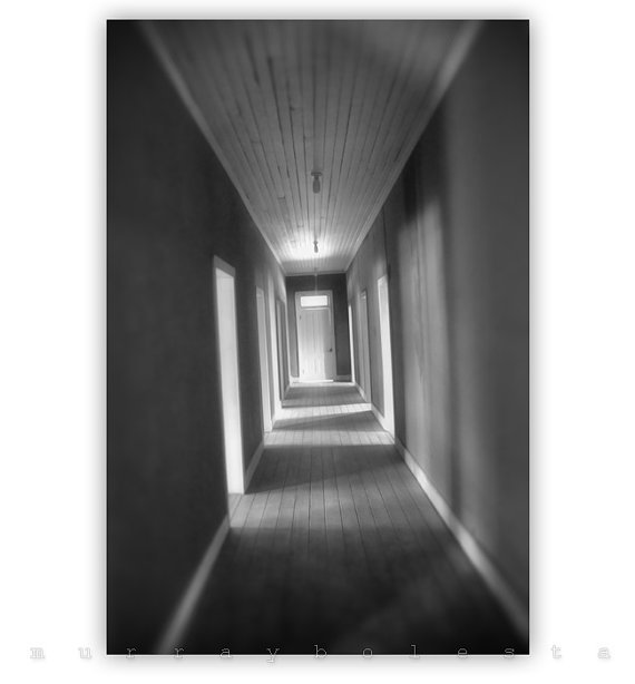 Ghost Photograph Black and White Architecture Art by MurrayBolesta