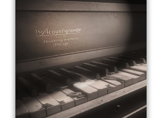 Photography Piano Art Ghost Town Keyboard Art by MurrayBolesta
