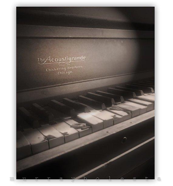 Photography Piano Art Ghost Town Keyboard Art by MurrayBolesta