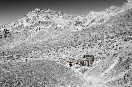 Desert Photograph Southwest USA Ghost Town Black by MurrayBolesta
