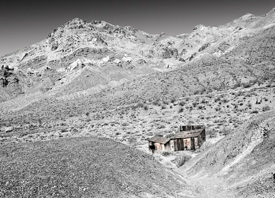 Desert Photograph Southwest USA Ghost Town Black by MurrayBolesta