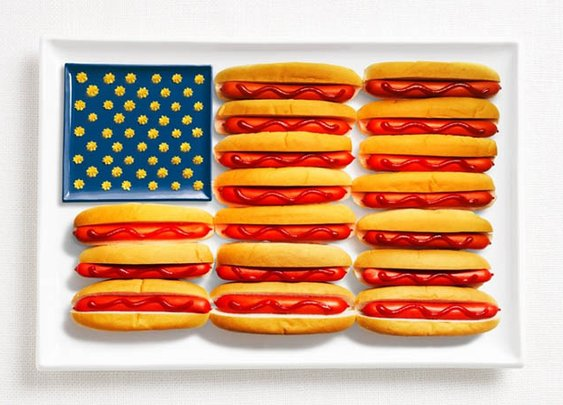 18 National Flags Made By Food The Countries Are Famous For