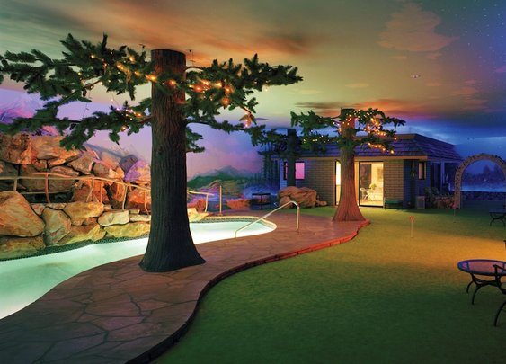 Some mad man built a full family house 25 feet under Las Vegas