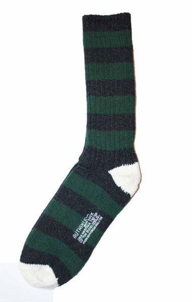Petaluma Supply Co. - Striped Cold Weather Boot Sock Made in USA One Size Fits All