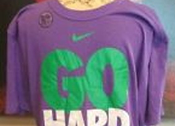 Mens Nike Purple T Shirt Go Hard XL Football Dri Fit Cotton | eBay