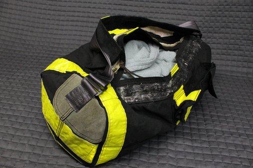 Black bunker gear bag