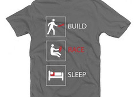 Build. Race. Sleep. T-shirt | Winding Road Racing