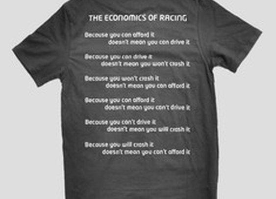 Economics of Racing T-Shirt | Winding Road Racing