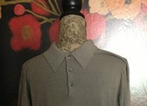 Roberto Omagi Mens Silk Blend Ling Sleeve Khaki Collar 3 Button Sweater XL Mint | eBay