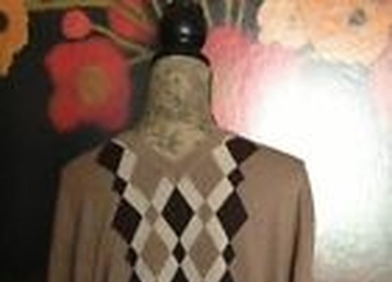 Perry Ellis Argyle Sweater 2XL V Neck Long Sleeve Mens Beautiful Browns | eBay