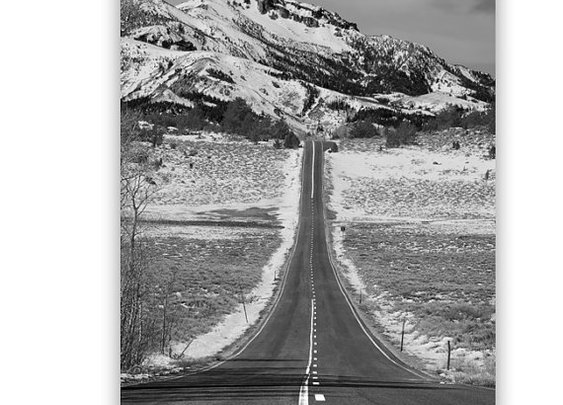 Road Trip Winter Art Black and White Photography by MurrayBolesta