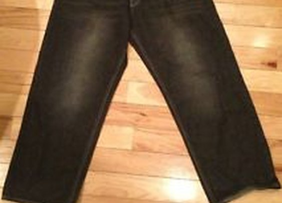 Avirex Men's Baggy Loose Urban Hip Hop 36x30 Black Jeans 100 Cotton Nice | eBay